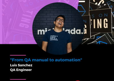 """Charla """"From QA manual to automation"""" en Hands on Testing 2021"""