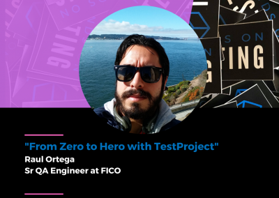 """Charla """"From Zero to Hero with TestProject"""" en Hands on Testing 2021"""