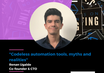 """Charla """"Codeless automation tools, myths and realities"""" en Hands on Testing 2021"""
