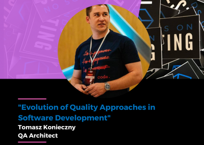 """Charla """"Evolution of Quality Approaches in Software Development"""" en Hands on Testing 2021"""